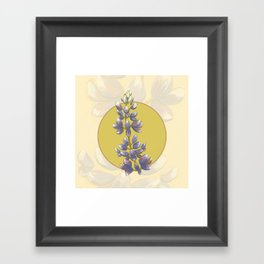 Arroyo Lupine -Calfornia Native Flower Framed Art Print