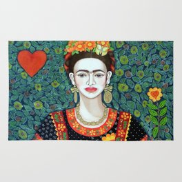 Frida, queen of hearts closer II Rug