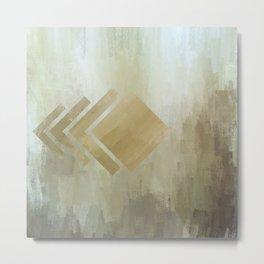 Diamond Subtlety | Minimalist | Abstract | Modern | Shapes | Geometrix Metal Print