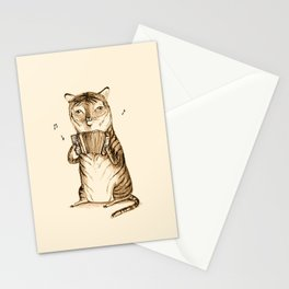Accordion Tiger Stationery Cards