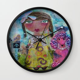 Phoebe & Poof - Whimsies of Light Children Series Wall Clock