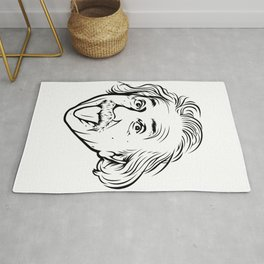 Albert Einstein Artwork With his famous photo showing tongue, Tshirts, Prints, Posters, Bags Rug