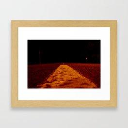 Red Road Framed Art Print