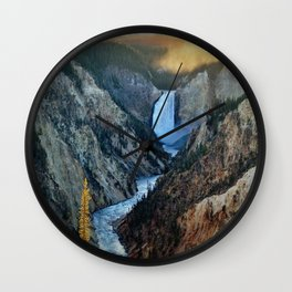 Canyon Falls Wall Clock