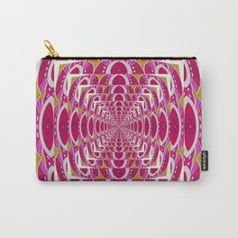 Art Deco Vintage Mandala Pulse Print Carry-All Pouch