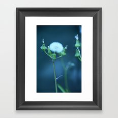 One More Wish (Blue) Framed Art Print