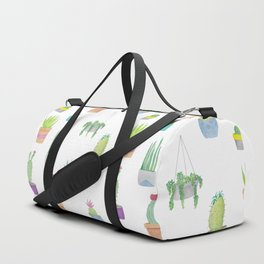 Cacti and Succulent Pattern Duffle Bag