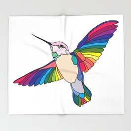 Colorful Humming Throw Blanket