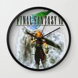 Cloud Strife Final Fantasy 7 Wall Clock