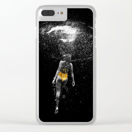 Black Water Clear iPhone Case