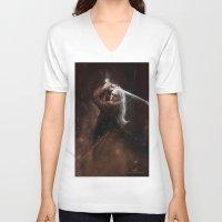 thranduil V-neck T-shirts featuring Thranduil by LucioL