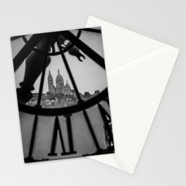 View of Montmartre from Musee D'Orsay Stationery Cards
