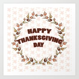 Greating card on Thanksgiving day Art Print
