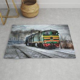 Diesel Train Locomotive Rug