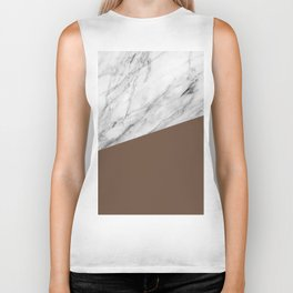 Marble with Emperador Color Biker Tank