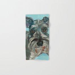Schnauzer Dog Portrait Hand & Bath Towel