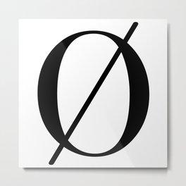 Minimalist Letter Ø Metal Print