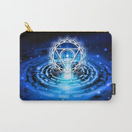 Cosmic Throat Chakra Tapestry Carry-All Pouch