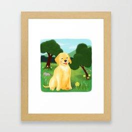 A Golden Day Framed Art Print
