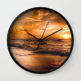 Ocean Sunset Wall Clock
