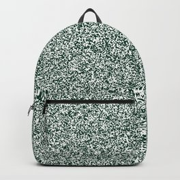 Spacey Melange - White and Deep Green Backpack