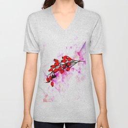 Rose Hips Unisex V-Neck
