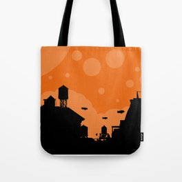 The Great Blimp Race Tote Bag