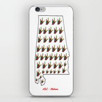alabama iPhone & iPod Skins featuring ASL - Alabama by EloiseArt