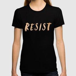 RESIST 7.0 - Rose Gold on Navy #resistance T-shirt