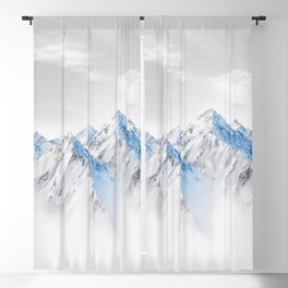 Snow Capped Mountains Blackout Curtain