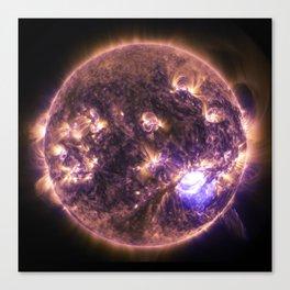 solar flairs Canvas Print