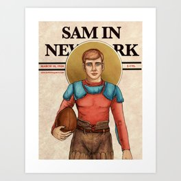 The Football Player Art Print