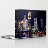 singapore Laptop & iPad Skins featuring Singapore Skyline by Mark Bagshaw Photography