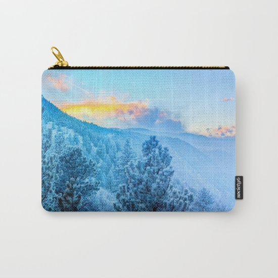 Snow Mountains Sunrise Carry-All Pouch