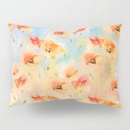 Summer Poppy Pattern Pillow Sham