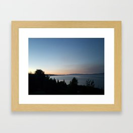 Darkness Arriving Framed Art Print