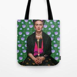Flowers Frida Kahlo I Tote Bag