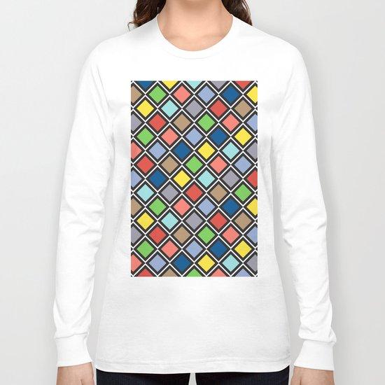 Colorful Geometric Pattern III Long Sleeve T-shirt