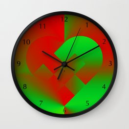 Danish Heart Holidays #21 Wall Clock