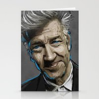 david lynch Stationery Cards featuring DAVID LYNCH by AMBIDEXTROUS™