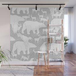 Polar gathering (latte) Wall Mural