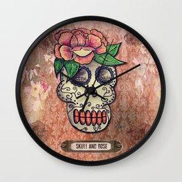 Skull & Flower Wall Clock