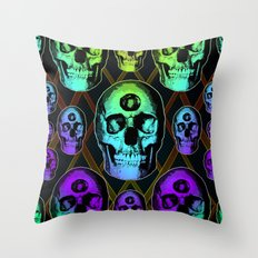 Skulluminati Throw Pillow