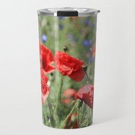poppy flower no9 Travel Mug