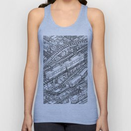 The Town of Train 3 Unisex Tank Top