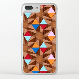 Modern Marquetry Clear iPhone Case