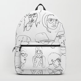 Black an White People Backpack