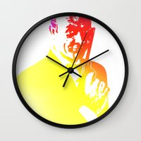 james bond Wall Clocks featuring James Bond - Tequila Sunrise by D77 The DigArtisT