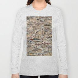 Skyline Roofs of Fes Marocco Long Sleeve T-shirt
