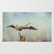 Blue Heron Landing Rug